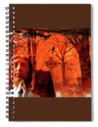 Ethereal Red Spiral Notebook