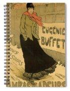 Eugenie Buffet Poster Spiral Notebook