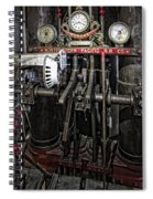 Eureka Ferry Steam Engine Controls - San Francisco Spiral Notebook