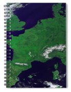 Europe From Above Spiral Notebook