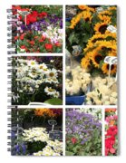 European Flower Market Collage Spiral Notebook