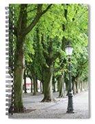 European Park Trees Spiral Notebook