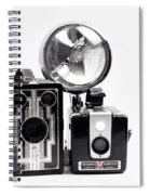European Travelers Mother And Daughter Cameras Bw Spiral Notebook