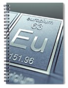 Europium Chemical Element Spiral Notebook