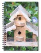 Evans's Birdhouse - Oil Paint Spiral Notebook