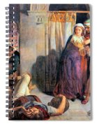 Eve Of Saint Agnes The Flight Of Madelein The Drunkenness Attending The Revelry Spiral Notebook