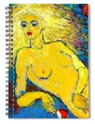 Eve/ Red Apple Of Temptation Spiral Notebook