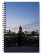 Even The Clouds Aligned With St Paul's Cathedral And The Millennium Bridge - London Spiral Notebook