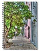Evening Along Rainbow Row Spiral Notebook