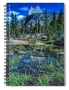 Evening At Cathedral Lakes Spiral Notebook