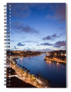 Evening At Douro River In Portugal Spiral Notebook