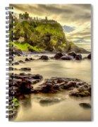 Evening At Dunluce Castle Spiral Notebook