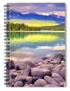 Evening At Lake Annette Spiral Notebook