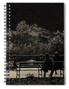 Evening Bench Warmers Spiral Notebook