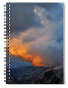 Evening Clouds And Half Dome At Yosemite Spiral Notebook