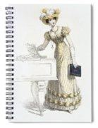 Evening Dress, Fashion Plate Spiral Notebook