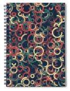 Evening Geometric Circle Segment Pattern Spiral Notebook