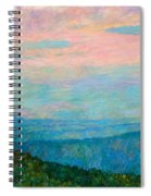 Evening Glow At Rock Castle Gorge  Spiral Notebook