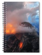 Evening Glow On Half Dome In Yosemite Spiral Notebook
