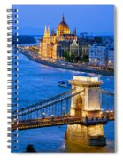 Evening In Budapest Spiral Notebook