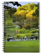 Evening In Central Park Spiral Notebook