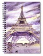 Evening In Paris A Walk To The Eiffel Tower Spiral Notebook