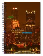 Evening In The City Of Champions Spiral Notebook