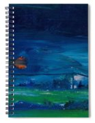 Evening Landscape Oil On Canvas Spiral Notebook