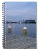 Evening Light At Chincoteague Sound  Spiral Notebook