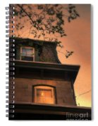 Evening Light On Old House Spiral Notebook