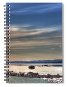 Evening Light On The Salish Sea Spiral Notebook