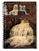 Evening Light Waterfalls Spiral Notebook