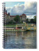Evening Mood On The Elbe Spiral Notebook