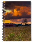 Evening On The Farm Five Spiral Notebook