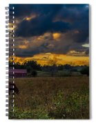 Evening On The Farm One Spiral Notebook