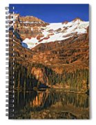 Evening On The Great Divide Painted Spiral Notebook