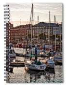 Evening On The Harbor  Spiral Notebook