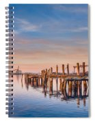 Evening On The Humboldt Bay Spiral Notebook