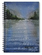 Evening On The Lake Spiral Notebook