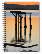 Evening On The Sacramento River Spiral Notebook