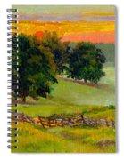 Evening Pastures Spiral Notebook