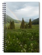 Evening Rainbow In The Rocky Mountains Spiral Notebook