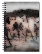 Evening Roundup - Featured In Comfortable Art Group Spiral Notebook