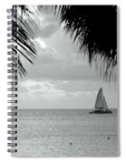 Evening Sail In Paradise Spiral Notebook