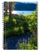 Evening Shadows At Lake George Spiral Notebook