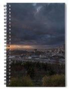 Evening Skies Light Spiral Notebook