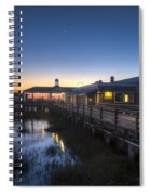 Evening Sky At The Dock Spiral Notebook