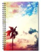 Evening Storm Photography Light Leaks2 Spiral Notebook