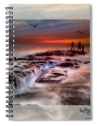 Evening Stroll At The Beach -featured In 'cards For All Occasions'comfortable Art'  'digital Veil Spiral Notebook
