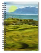 Evening Stroll By The Seashore Spiral Notebook